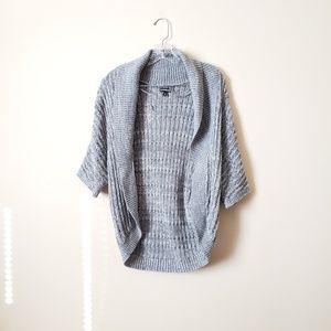 Express Grey Knit Open Cardigan Shrug XS